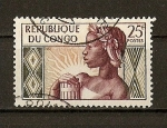 Stamps Republic of the Congo -  Mujer Aborigen.