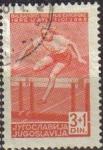 Sellos de Europa - Yugoslavia -  YUGOSLAVIA 1948 Scott B156 Sello Deportes Atletismo Vallas usado