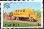 Stamps Africa - Zambia -  ZAMBIA 1974 Sello Nuevo UPU Berna Camion Servicio Postal Rural