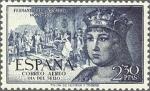Stamps Spain -  ESPAÑA 1952 1115 Sello Nuevo V Centenario Nacimiento Fernando el Católico. Correo Aereo