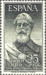 Sellos de Europa - España -  ESPAÑA 1953 1124 Sello Nuevo Legazpi Correo Aereo Convenio Postal Hispano Filipino Yv 262