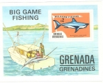 Sellos del Mundo : America : Granada : Big Fish Mako Shark, Scott # 611