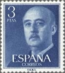 Sellos de Europa - España -  ESPAÑA 1955 1159 Sello Nuevo General Francisco Franco (1892-1975) 4pts