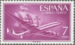 Sellos de Europa - España -  ESPAÑA 1955 1178 Sello Nuevo Super Constellation y Nao Santa Maria 7pts