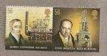 Sellos de Europa - Reino Unido -  Pioneros de la revolución industrial