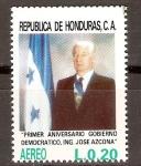 Sellos de America - Honduras -  PRESIDENTE  JOSÉ  SIMÓN  AZCONA  HOYO
