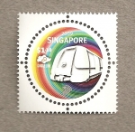 Stamps Asia - Singapore -  Linea circular metro
