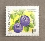 Stamps Asia - Singapore -  Planta Clitoria ternatea