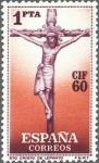 Stamps Spain -  ESPAÑA 1960 1282 Sello Nuevo I Congreso Internacional de Filatelia, Barcelona Cristo de Lepanto