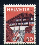 Stamps Switzerland -  chalet suizo