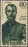 Sellos de Europa - España -  ESPAÑA 1960 1300 Sello Nuevo Forjadores de América Ponce de León 80c