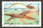 Sellos de Africa - Marruecos -  animal prehistórico, oronosaurus