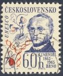 Sellos de Europa - Checoslovaquia -  Unesco  G.J. Mendel 1865-1965