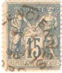 Sellos del Mundo : Europa : Francia : Paz Y Comercio, Scott # 92