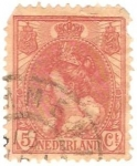 Sellos de Europa - Holanda -  Queen Wilhelmina, Scott # 65