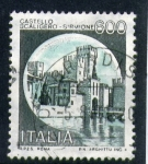 Sellos de Europa - Italia -  castillo scaligero-sirmione