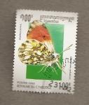Stamps Cambodia -  Mariposa Anthocaris cardamines