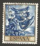 Stamps Spain -  lucha de jacob y el ángel, obra de jose mª sert