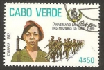 Stamps Africa - Cape Verde -  mujeres militares