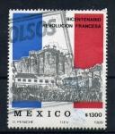 Stamps America - Mexico -  bicentenario revolución francesa