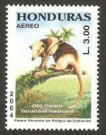 Sellos del Mundo : America : Honduras : fauna, oso melero