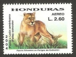 Sellos del Mundo : America : Honduras : fauna, puma o león americano