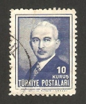 Stamps Turkey -  1035 - Presidente Ismet Inönü