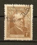 Stamps Argentina -  Domingo Sarmiento.