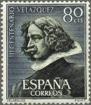 Stamps Spain -  ESPAÑA 1961 1340 Sello Nuevo III Centenario Muerte Velazquez Autoretrato