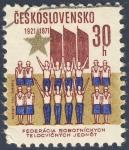 Sellos de Europa - Checoslovaquia -  1921-1971 Federacia Robotnickych Telocvicnych Jednot