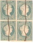 Stamps America - Cuba -  Reina Isabela II, Scott # 1