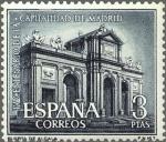 Stamps Europe - Spain -  ESPAÑA 1961 1392 Sello Nuevo Capitalidad de Madrid Puerta de Alcalá