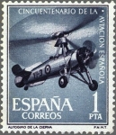 Sellos de Europa - España -  ESPAÑA 1961 1401 Sello Nuevo Aniversario de la Aviación Española Autogiro Juan de la Cierva