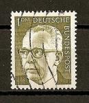 Sellos de Europa - Alemania -  Presidente G. Heinemann.