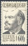Sellos del Mundo : Europa : Checoslovaquia : Centenario V.I.Lenin  1870-1970