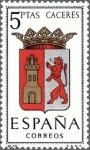 Stamps Spain -  ESPAÑA 1962 1415 Sello Nuevo Escudos de las Capitales de Provincia Españolas Caceres