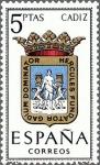 Stamps Spain -  ESPAÑA 1962 1416 Sello Nuevo Escudos de las Capitales de Provincia Españolas Cadiz