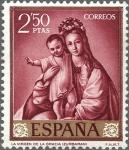 Stamps Spain -  ESPAÑA 1962 1424 Sello Nuevo Pintor Francisco de Zurbaran La Virgen de la Gracia