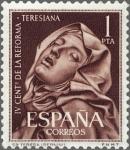 Sellos del Mundo : Europa : España : ESPAÑA 1962 1429 Sello Nuevo IV Cent. Reforma Teresiana Santa Teresa Escultura de Bernini