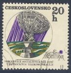 Stamps Czechoslovakia -  Inter Kosmos  Spoluprace Socialistickych Zemi  V Kosmickych Telekomunikacich