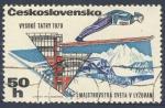 Sellos de Europa - Checoslovaquia -  Saltos de esqui