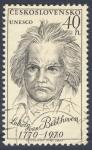 Stamps Czechoslovakia -  Ludvig van Beethoven  1770-1970