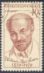 Sellos de Europa - Checoslovaquia -  Vladimir Iljic Lenin 1870-1970