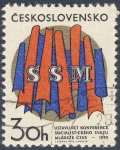 Sellos de Europa - Checoslovaquia -  SSM Ustavujici Konference Socialistickeho Svazu Mladeze CSSR  1970