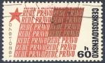 Sellos de Europa - Checoslovaquia -  Rude Pravo 1920-1970
