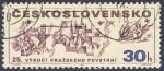 Stamps Czechoslovakia -  25 Vyroci Prazskeho Povstani