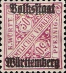 Stamps Europe - Germany -  Volkstaat Württenberg