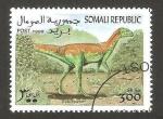 Sellos del Mundo : Africa : Somalia : animal prehistorico, echinodon
