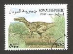 Sellos del Mundo : Africa : Somalia : animal prehistorico, velociraptor