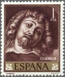 Stamps Spain -  ESPAÑA 1962 1435 Sello Nuevo Pintor Pedro Pablo Rubens Autorretrato, Fragmento de El Jardín del Amor